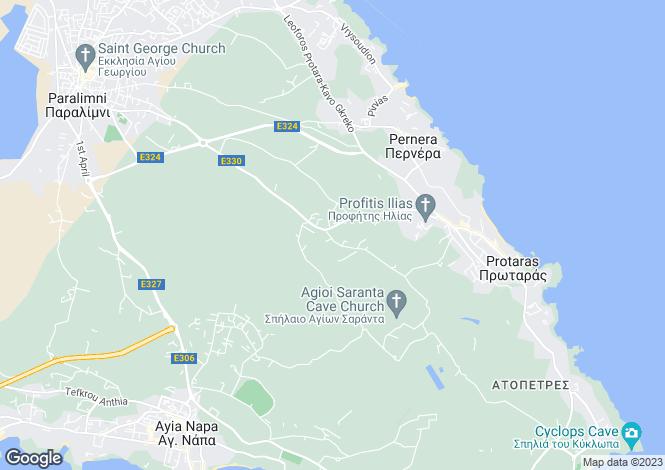 Map for Profitis Elias, Protaras, Cyprus