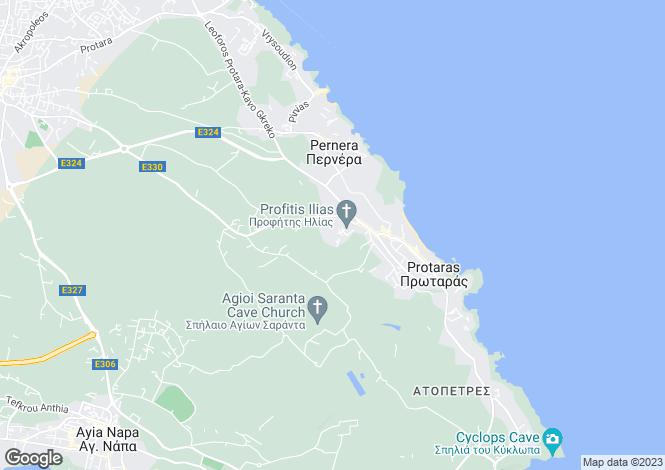 Map for Famagusta, Ayia Napa