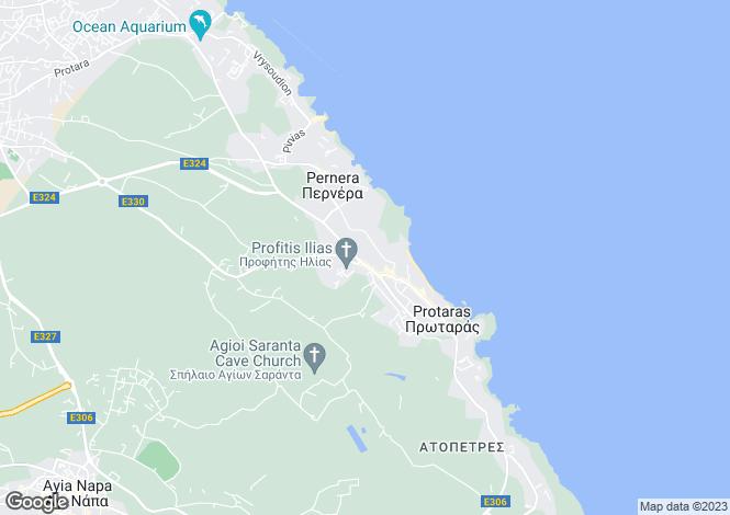 Map for Profitis Ilias - Protaras, Famagusta, Cyprus