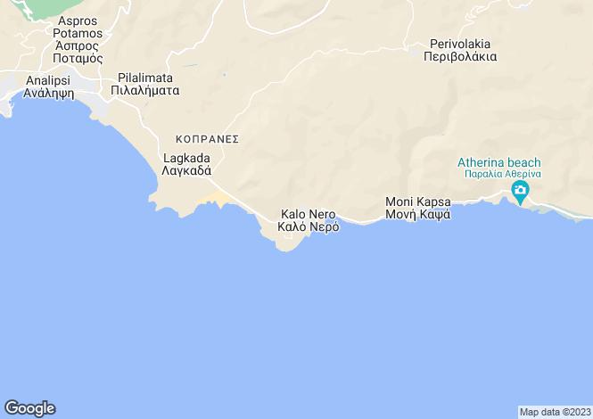 Map for Makrygialos, Lasithi, Crete