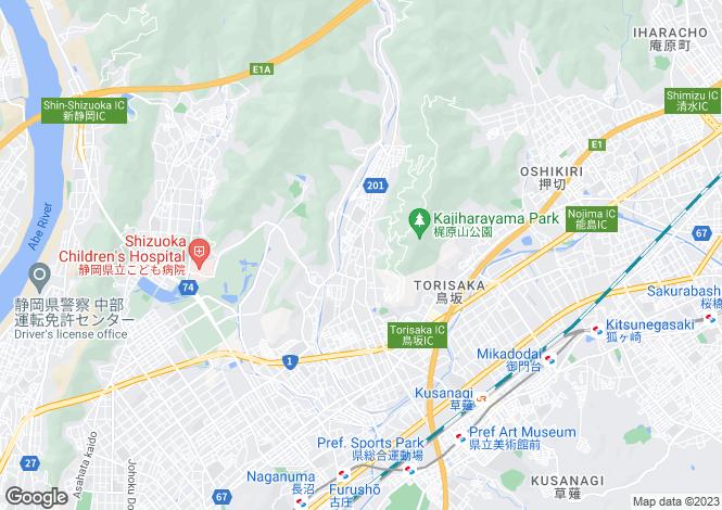 Map for Shizuoka