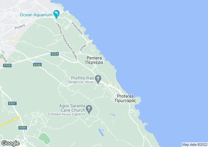 Map for Pernera/Protaras, Famagusta, Cyprus