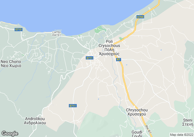 Map for Paphos, Polis
