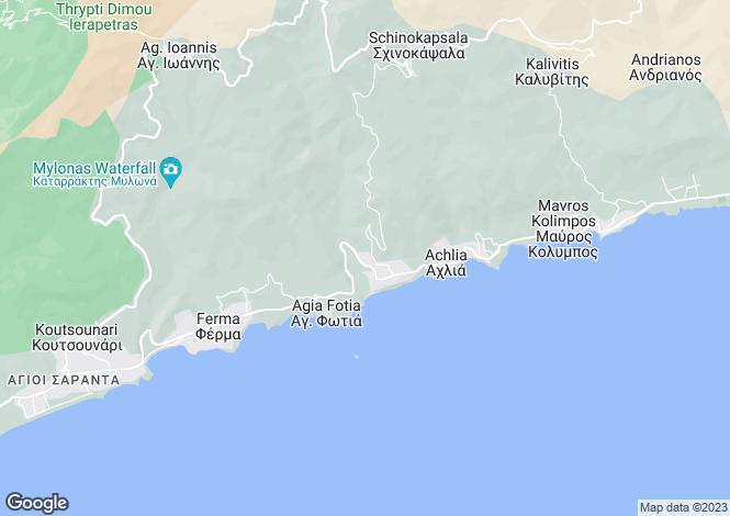 Map for Crete, Lasithi, Makrigialos