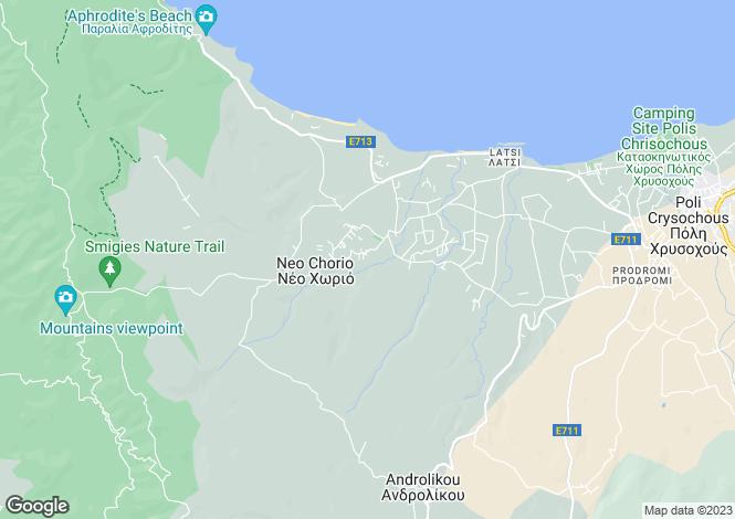 Map for Paphos, Polis