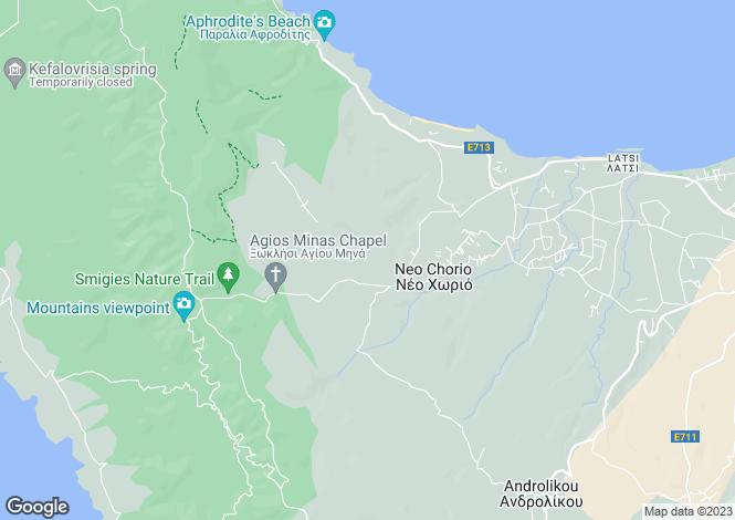 Map for Paphos, Neo Chorio