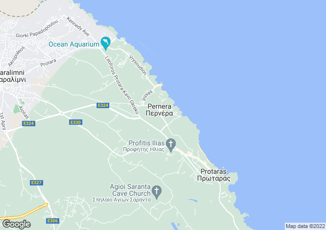 Map for Famagusta, Pernera