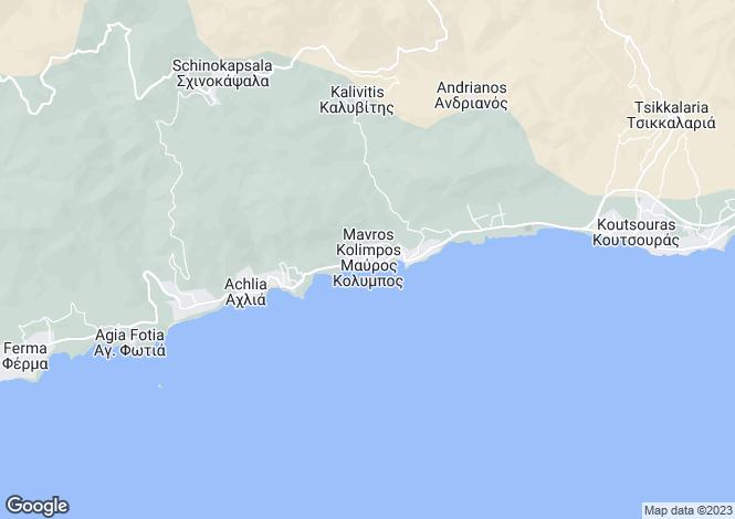 Map for Crete, Lasithi, Koutsouras