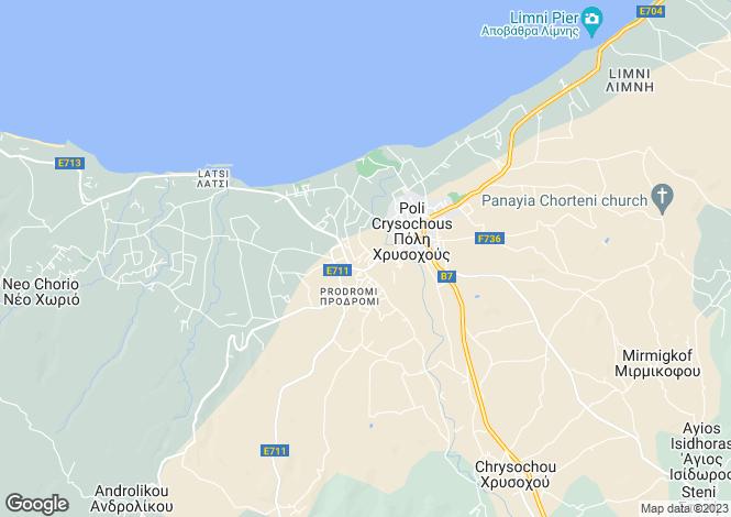 Map for Paphos, Prodromi