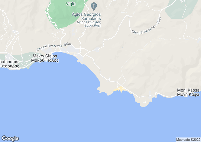 Map for Crete, Lasithi, Makrygialos