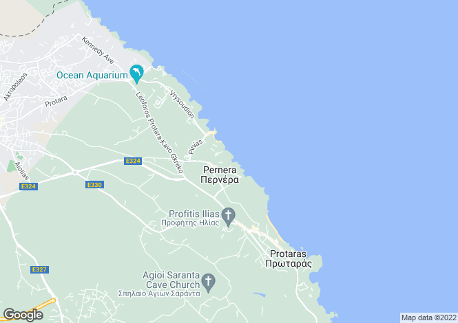 Map for Pernera Beach, Pernera, Protaras, Cyprus