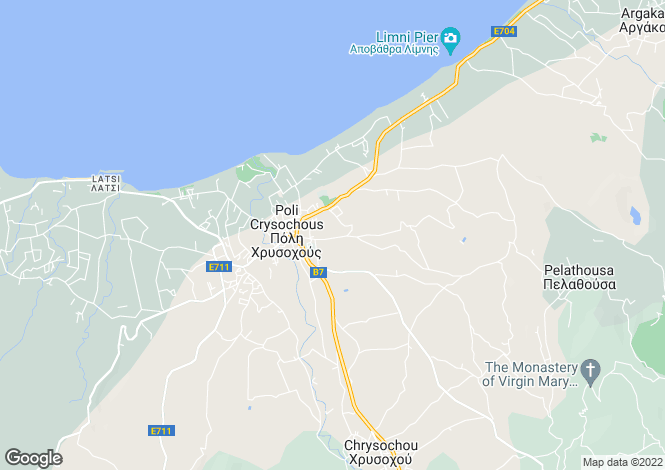 Map for Paphos, Polis Chrysochous