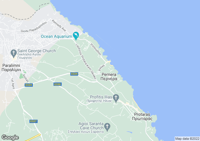 Map for Pernera, Famagusta