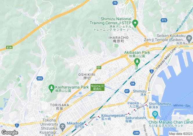 Map for Fukushima, Ishikawa