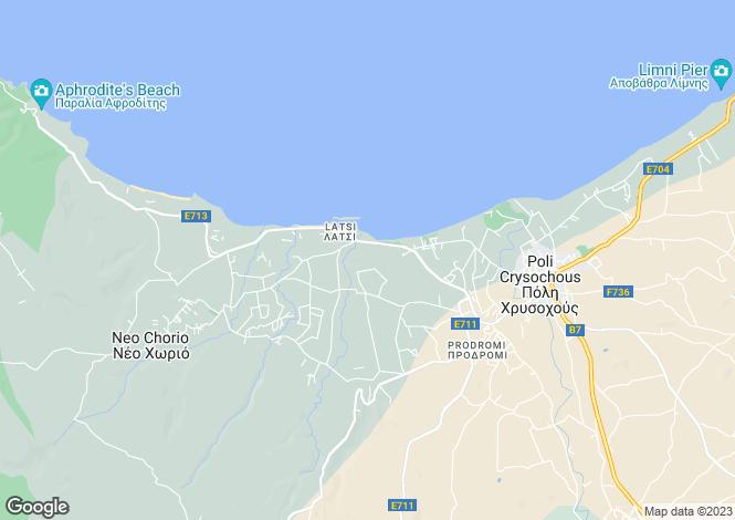 Map for Paphos, Lachi