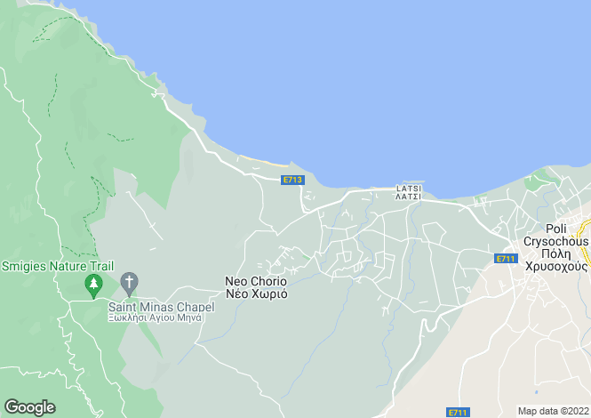 Map for Polis, Paphos, Cyprus
