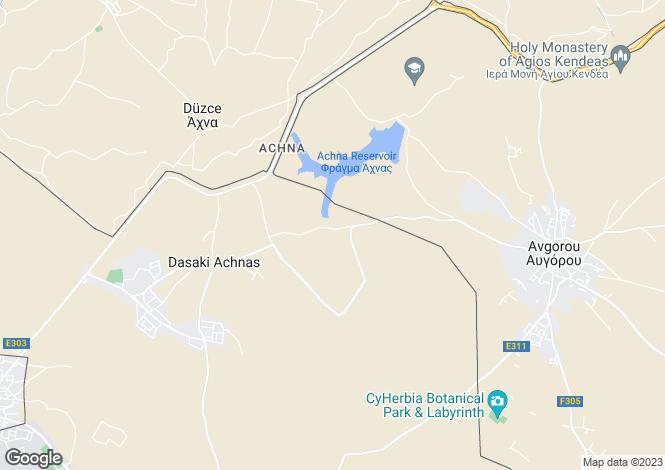 Map for Dasaki Achnas, Larnaca
