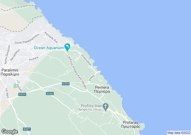 Map for Ayia Triada, Famagusta