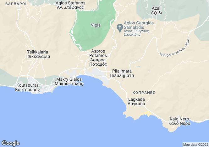 Map for Crete, Lasithi, Makrygialos