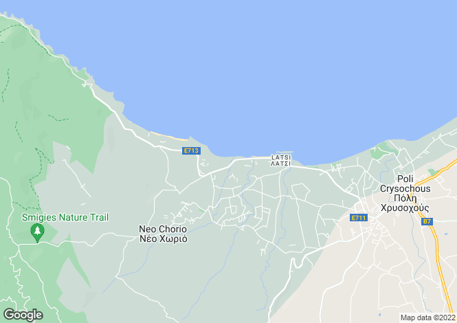 Map for Latchi, Paphos, Cyprus