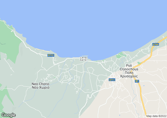 Map for Paphos, Latsi
