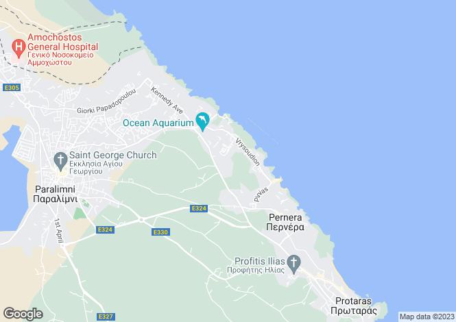 Map for Ayia Triada, Pernera, Cyprus