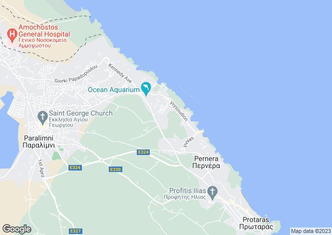 Map for Ayia Triada, Famagusta, Cyprus