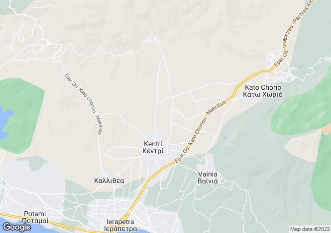 Map for Crete, Lasithi, Ierapetra