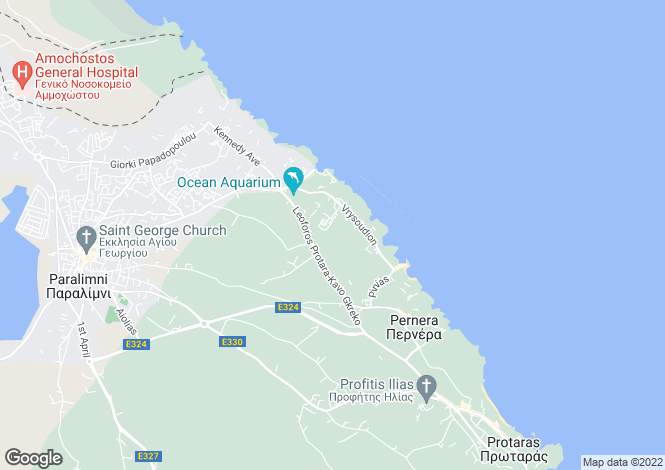 Map for Pernera, Famagusta, Cyprus