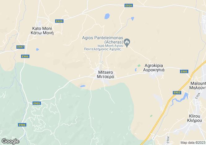 Map for Mitsero, Nicosia
