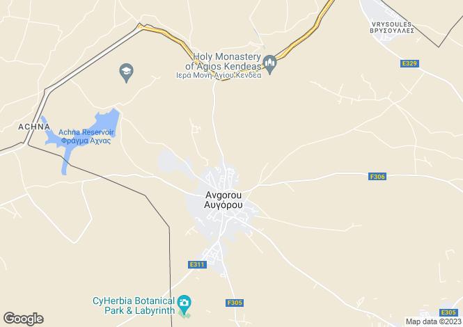 Map for Famagusta, Avgorou
