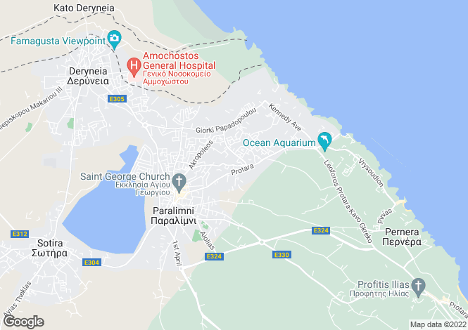 Map for Paralimni