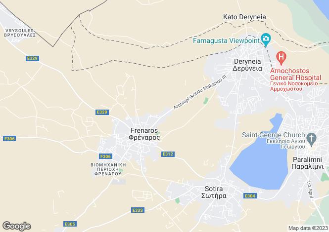 Map for Famagusta, Frenaros
