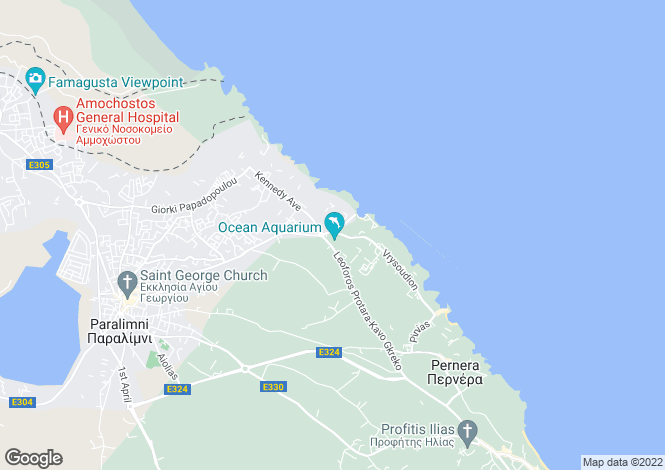 Map for Famagusta, Kapparis
