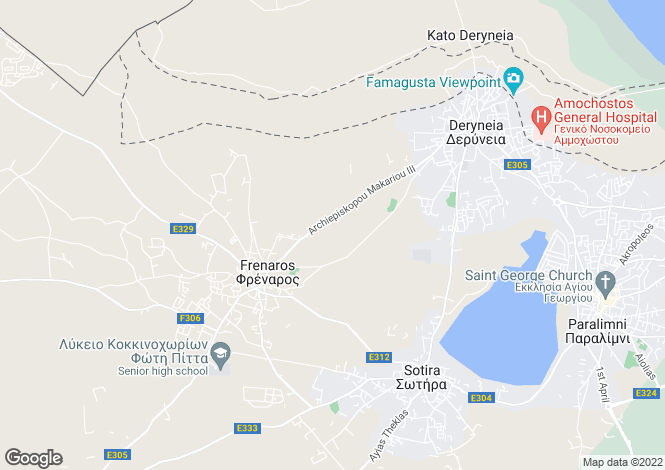 Map for Frenaros