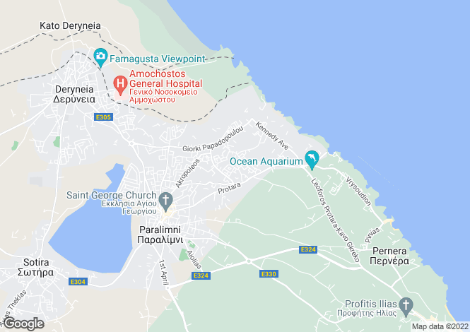 Map for Famagusta, Paralimni
