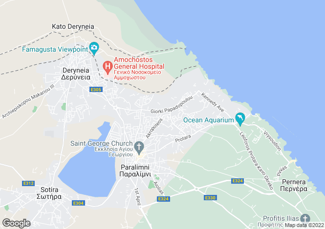 Map for Kapparis, Famagusta