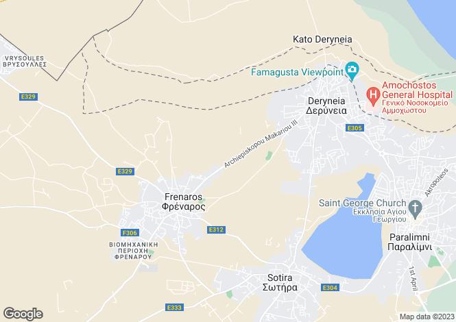 Map for Frenaros, Famagusta