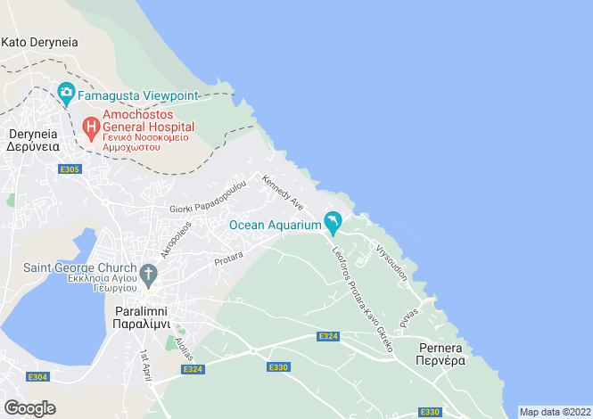 Map for Kapparis, Famagusta, Cyprus