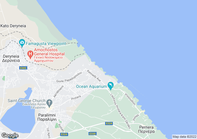 Map for Cyprus - Famagusta, Kapparis
