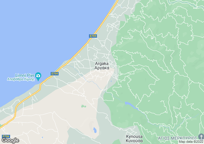 Map for Paphos, Argaka