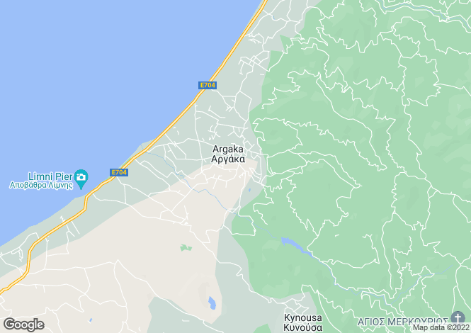 Map for Paphos, Argaka
