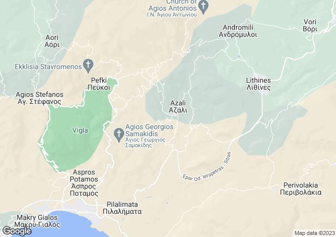 Map for Crete, Lasithi, Lithines