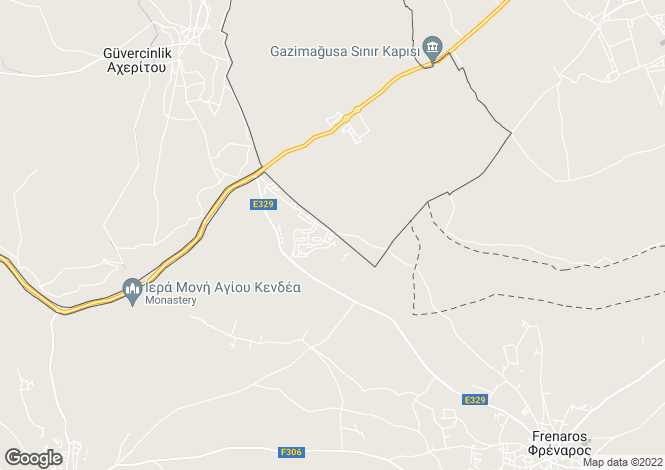 Map for Vrysoules, Famagusta