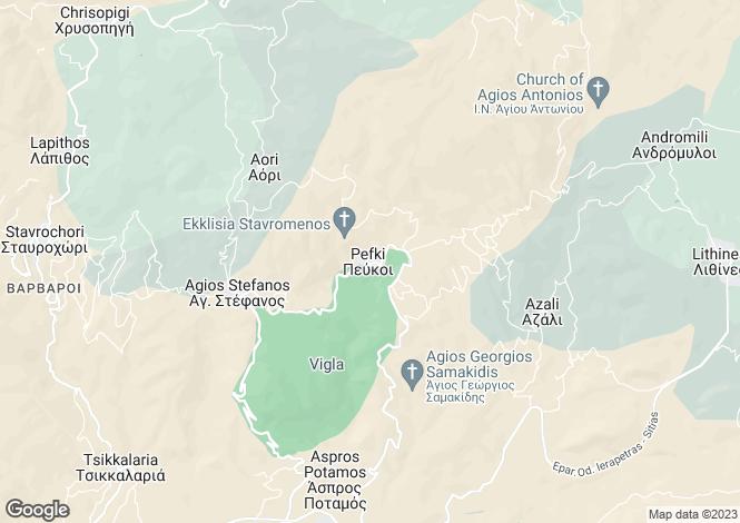 Map for Crete, Lasithi, Pefkoi