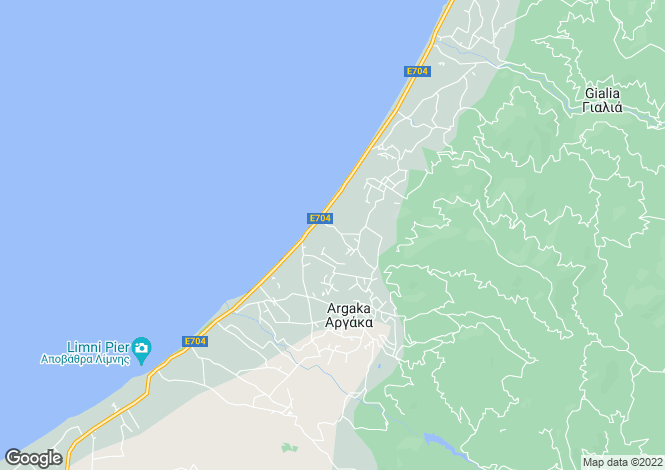 Map for Argaka, Paphos