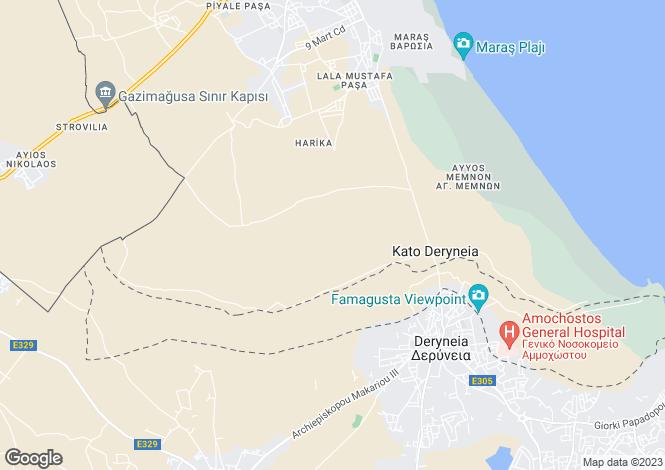 Map for Famagusta, Deryneia