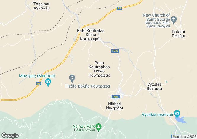 Map for Koutrafas Kato, Nicosia