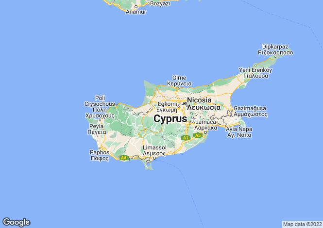 Map for Cyprus - Nicosia