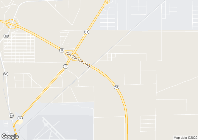Map for USA - California, Kern County, Mojave